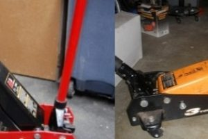 Homemade floor jack extensions