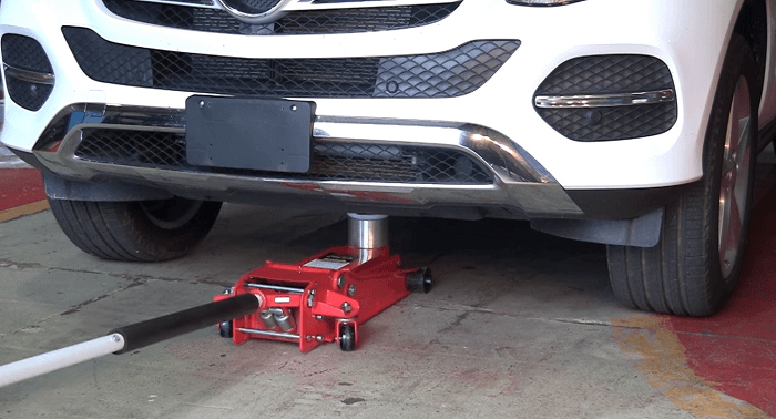 lift the car using floor jack Extension