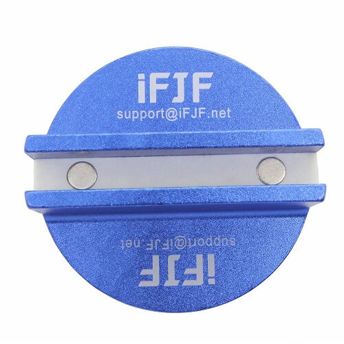 Byenins Large Slotted Universal Magnetic Jack Pad Weld Frame Rail Adapter for All Model Cars-blue