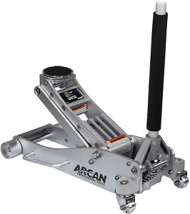 Arcan 3-Ton Aluminum Floor Jack with Dual Pump Pistons & Reinforced Lifting Arm