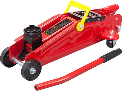 BIG RED Torin Hydraulic Floor Jack with Blow Mold Carrying Storage Case