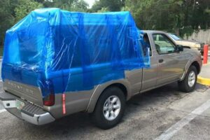 How to keep the luggage dry in a truck bed